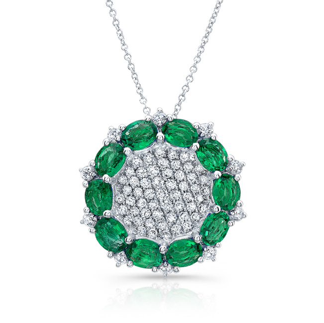 with on park pendant cut p be diamond halo emerald designer emeral